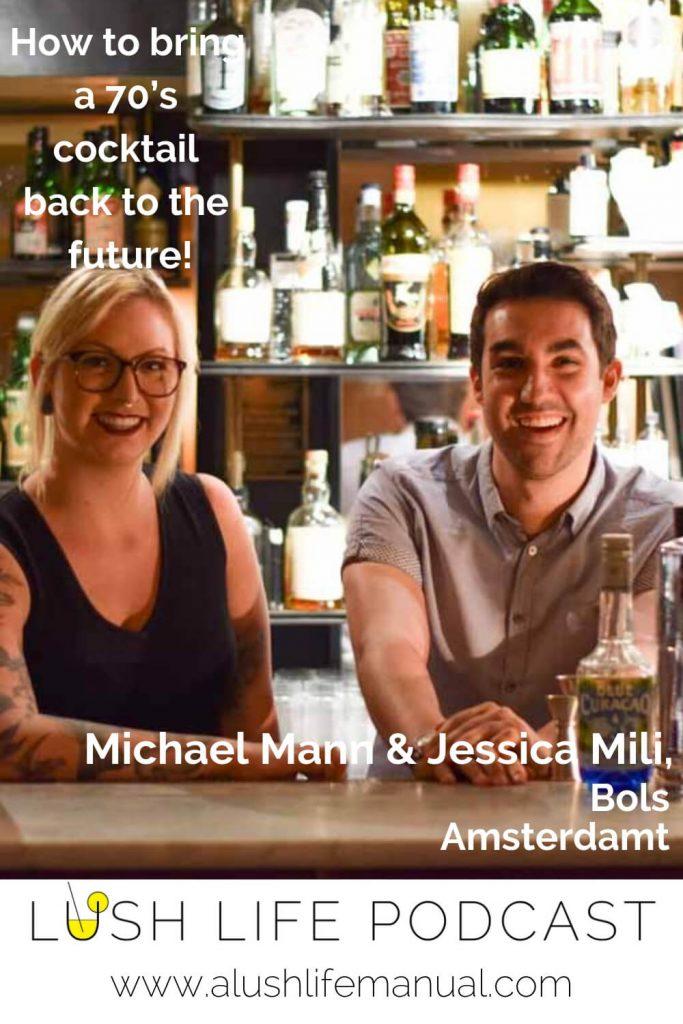 Michael Mann, UK Brand Ambassador & Jessica Mili, Bols Around the World Champion 2017, Lucas Bols, Amsterdam - Pinterest