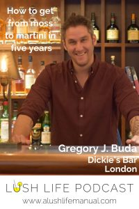 Gregory J. Buda, Bar Consultant, Dickie's Bar, London - Pinterest
