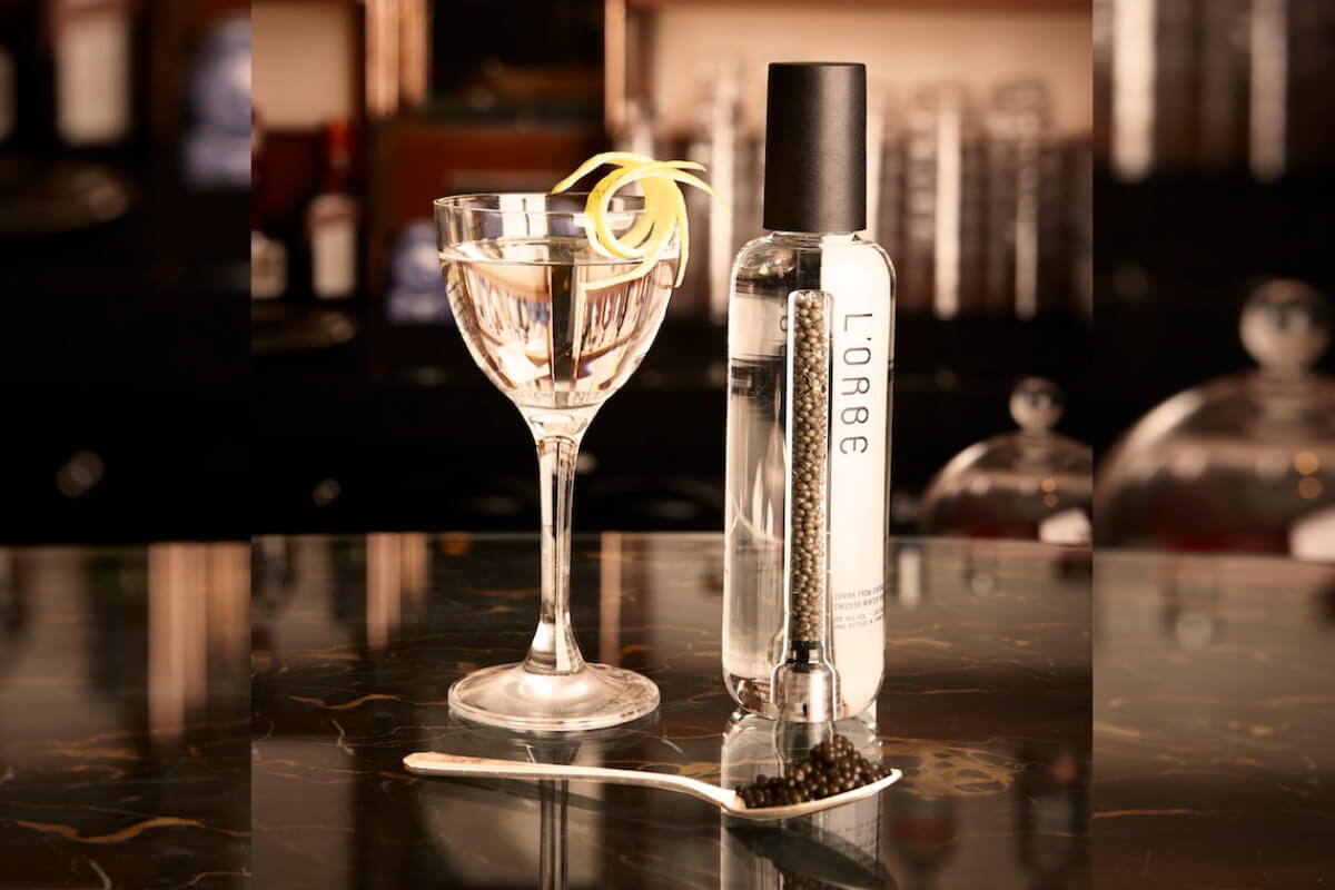 L'Orbe Martini (Available at Dukes Bar) – Valentine's Day Recipe