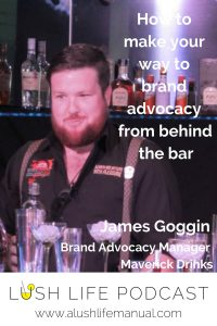 James Goggin, Brand Advocacy Manager for Maverick Drinks, London - Pinterest