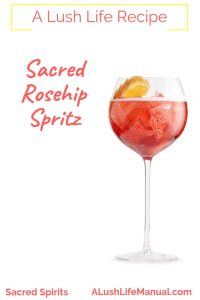 Sacred Rosehip Spritz, Sacred Spirits, London - Cocktail Recipe - Pinterest