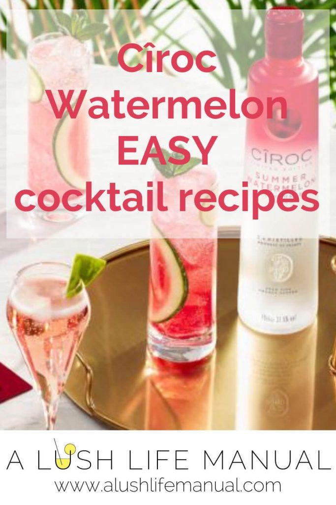 Easy Cîroc Watermelon Recipes
