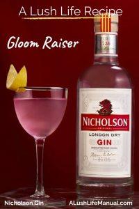 Gloom Raiser, Nicholson Gin, London - Cocktail Recipe - Pinterest