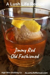 Jimmy Red Old Fashioned, High Wire Distilling Co, Charleston - pinterest