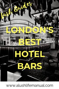 London's Best Hotel Bars - Pinterest
