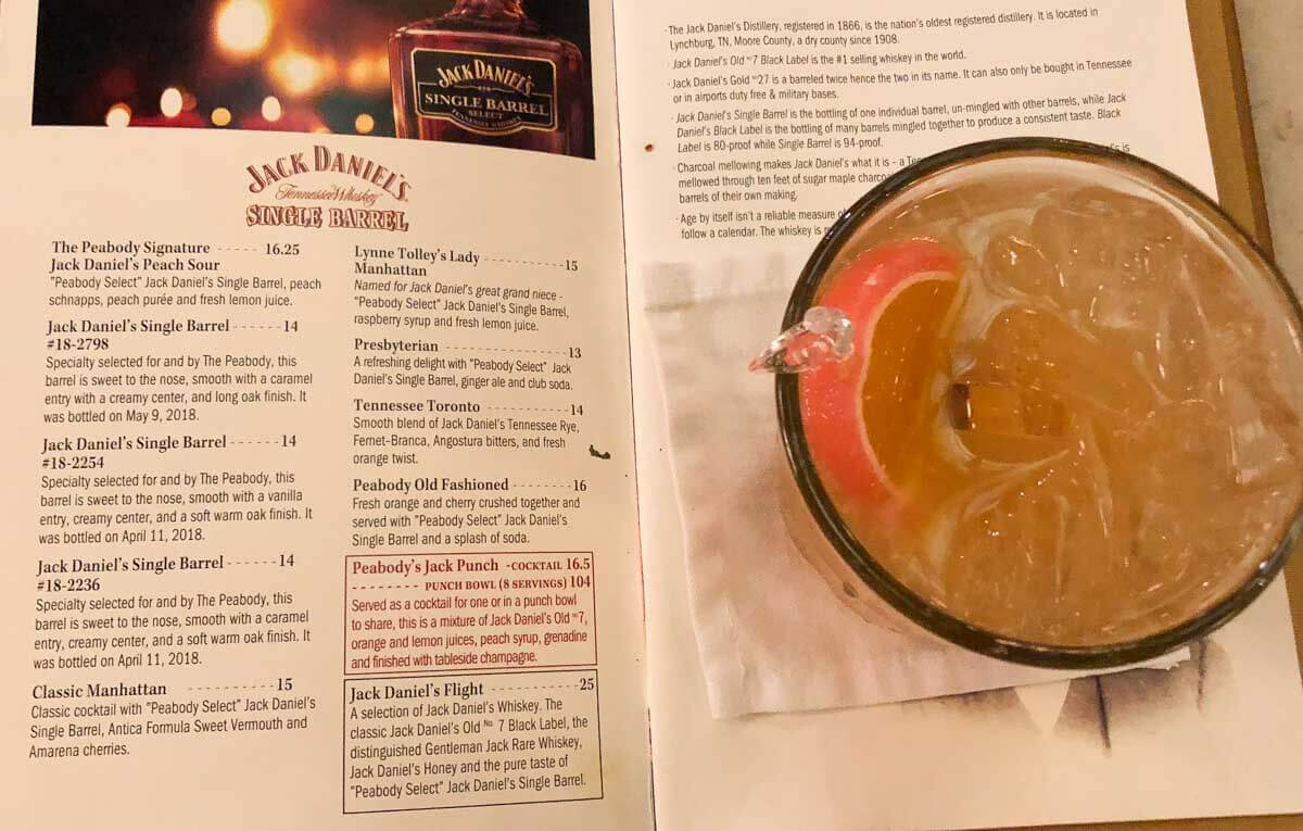 Memphis Bars - Peabody Hotel Lobby Bar