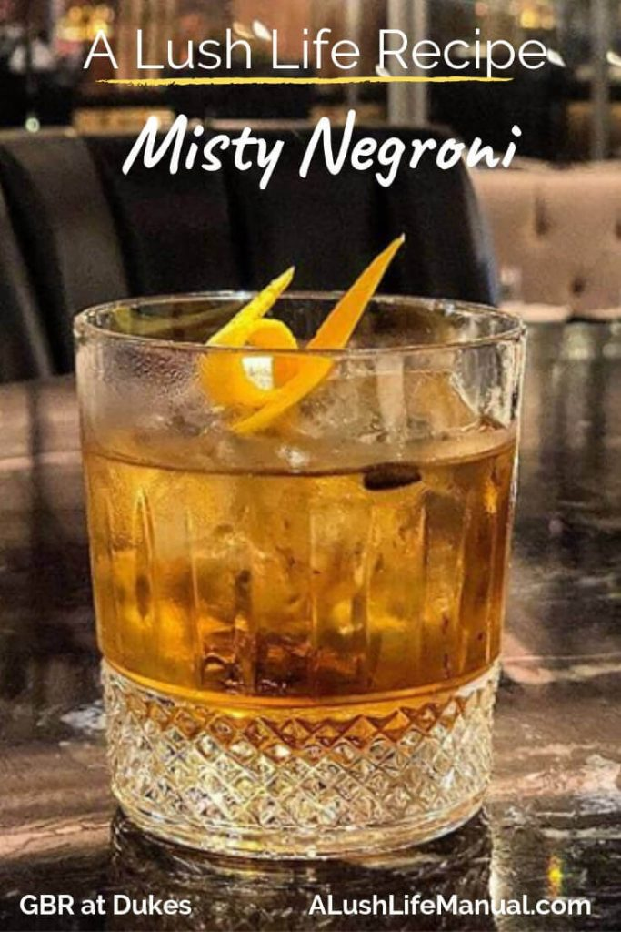 Misty Negroni, GBR at Dukes, London - cocktail recipe pinterest