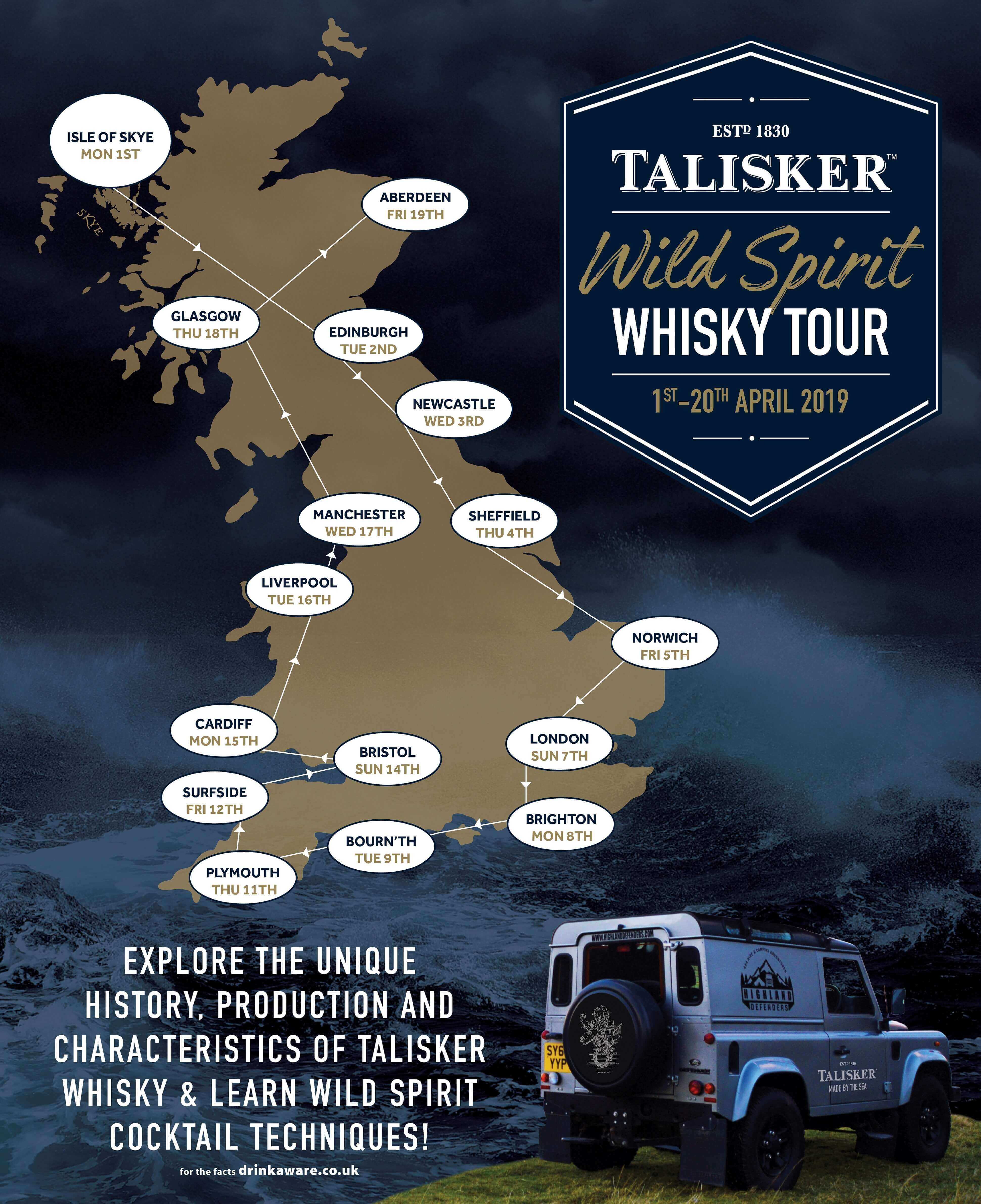 Talisker Launches Wild Spirit Whisky Tour and Bartender Competition