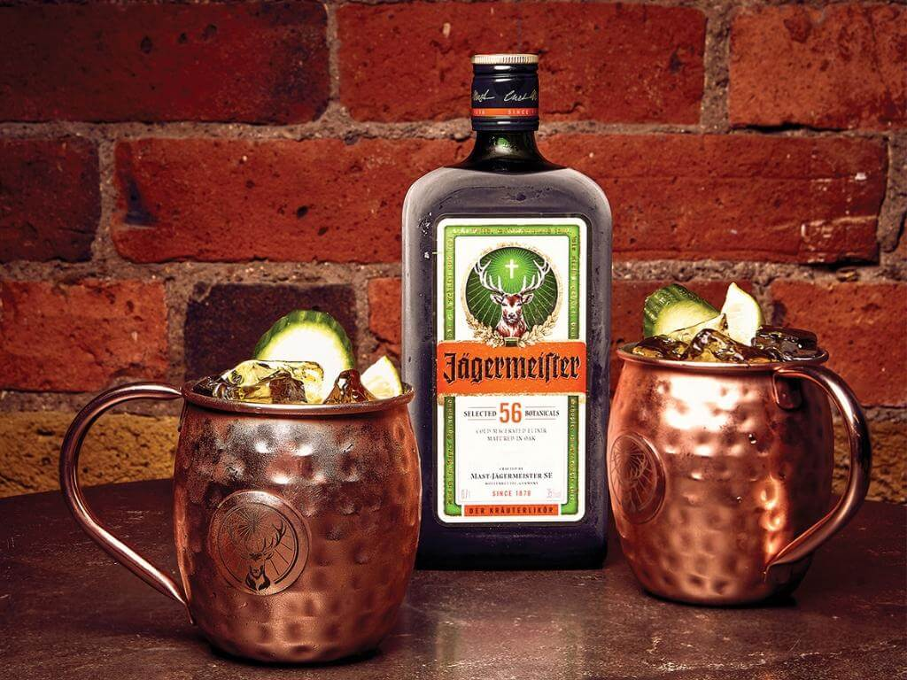 An easy cocktail recipe featuring Jägermeister and Ginger Beer. Making a modern twist on the old favorite, the Moscow Mule.