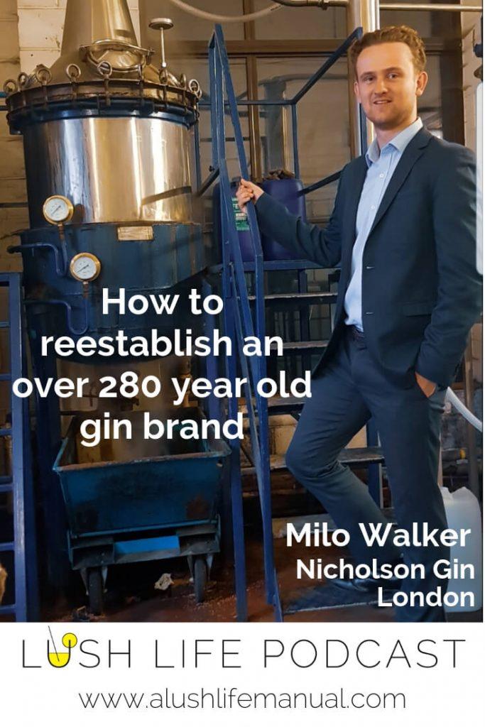 Milo Walker, Nicholson Gin, London - Pinterest