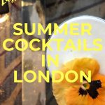 PINTEREST - Summer Cocktails in London