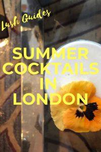PINTEREST - Summer Cocktails in London