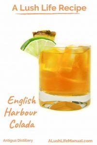 English Harbour Colada, Antigua Distillery, St. John's - PInterest