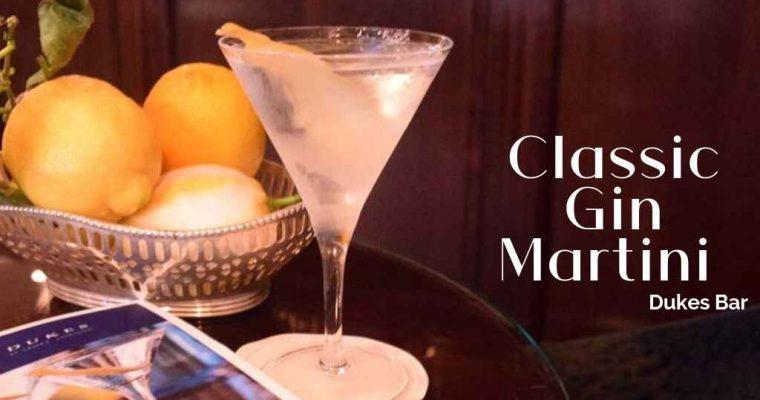 How to Make the Dukes Bar Classic Martini