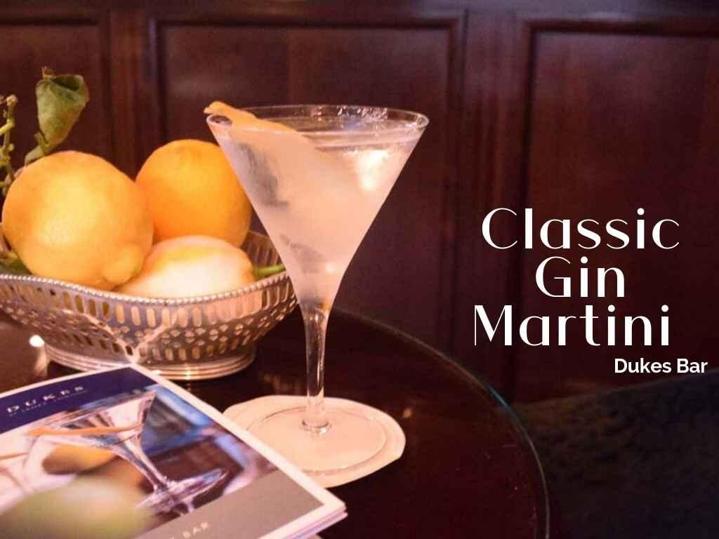 Dukes Classic Martini, Dukes Bar, London – Cocktail Recipe