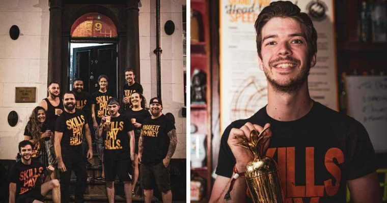 Nick Gordon from Orchid in Aberdeen retains his title in Monkey Shoulder's UK Ultimate Bartender Championship