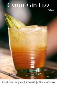 Cynar Gin Fizz, Polpo London - Pinterest