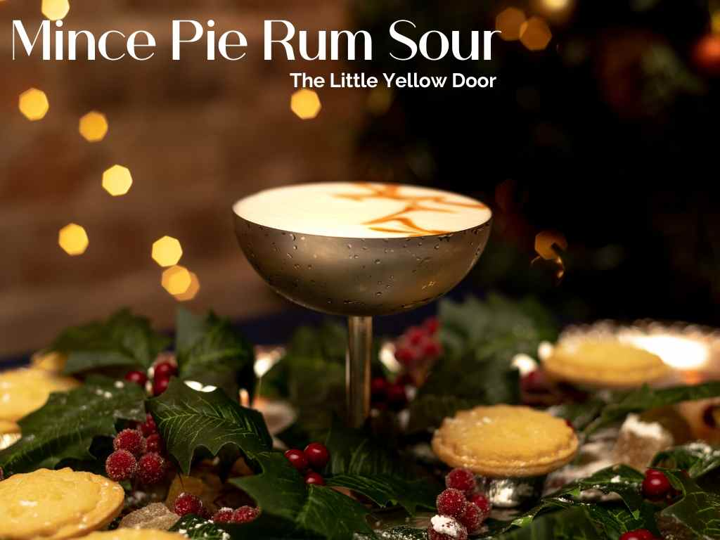 Mince Pie Rum Sour, The Little Yellow Door - Christmas Cocktails