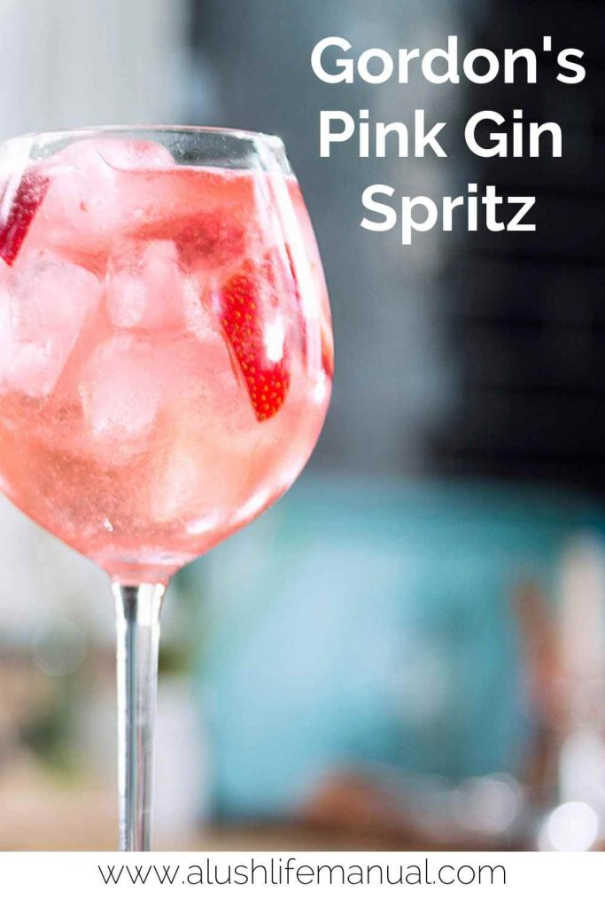 Gordon's Pink Gin Spritz for Pinterest