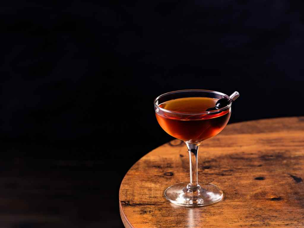 Making a Manhattan is super easy with this recipe!
