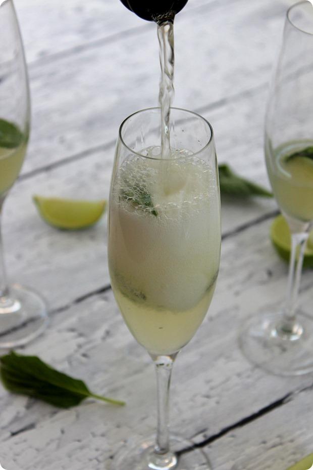Cucumber Lime Basil Prosecco Spritzer Recipe