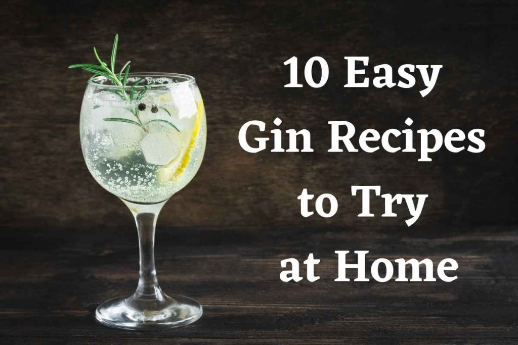 10 Easy Gin Recipes to Try at Home (1)