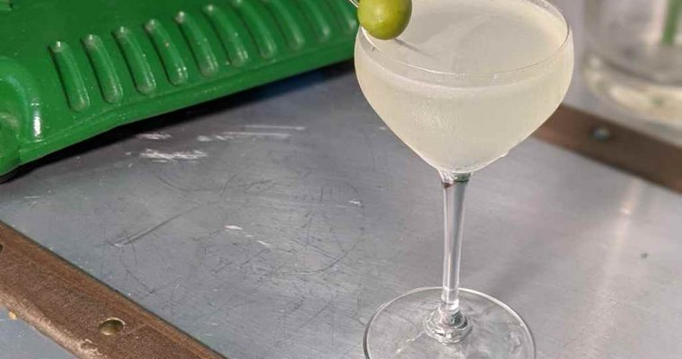 How to Make the Nocellara Gimlet – Cocktail Recipe