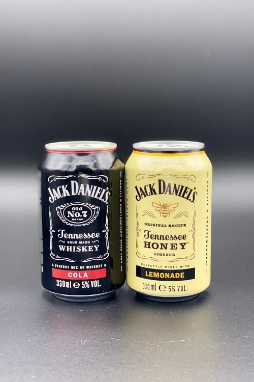 JD and Cola - canned cocktails