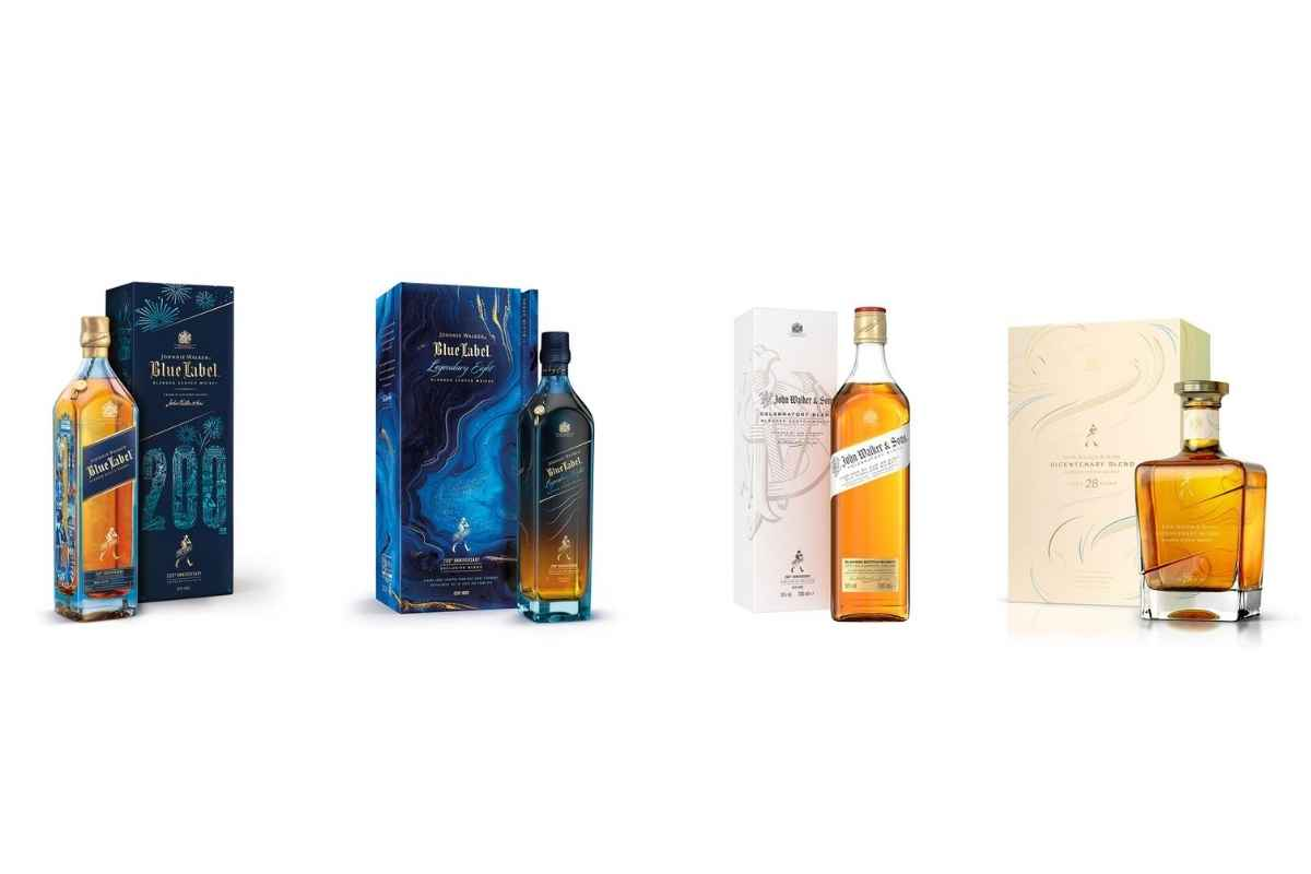 Johnnie Walker Celebrates 200th Anniversary with Four Exclusive Whiskies!