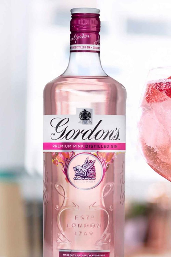Bottle of Gordon's Pink Gin & Tonic