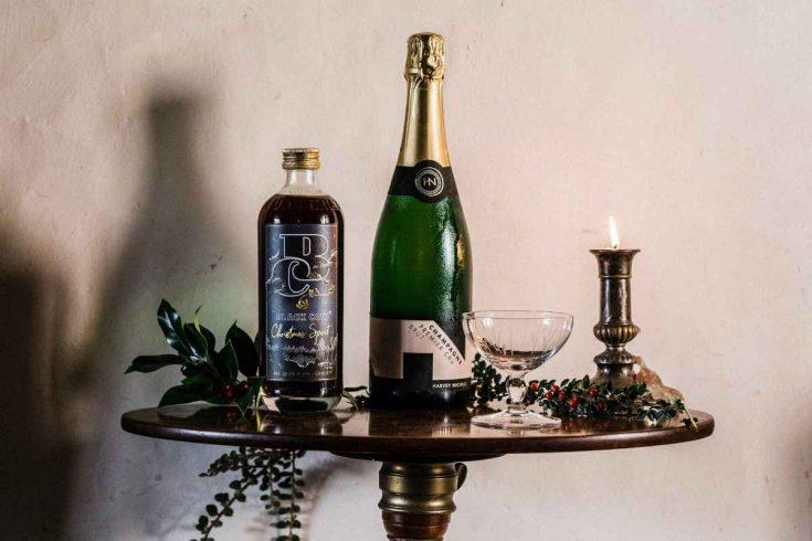 Black Cow Christmas Spirit Champagne Cocktail