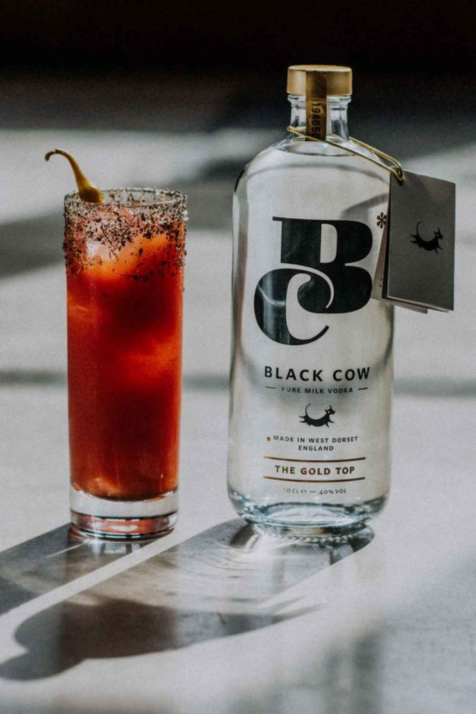 Black Cow Bloody Cow Upright