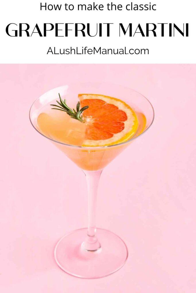 Grapefruit Martini - pinterest