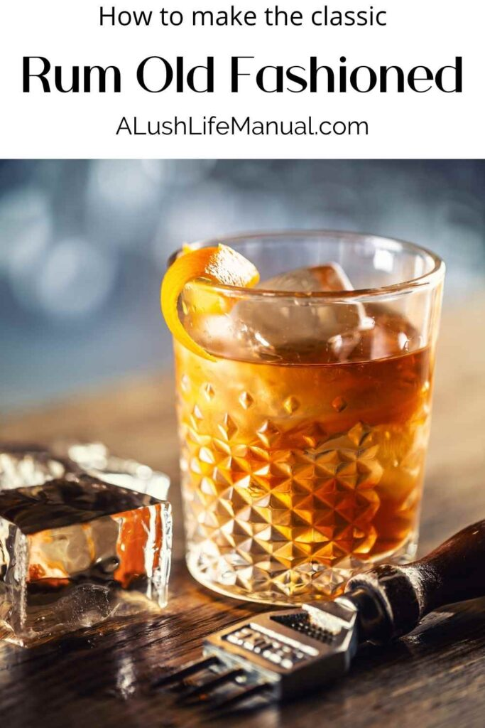 Rum Old Fashioned - Pinterest